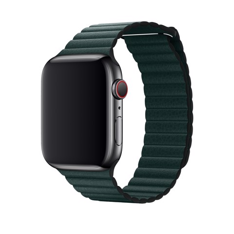 Dây da Apple Watch 44mm Forest Green Leather
