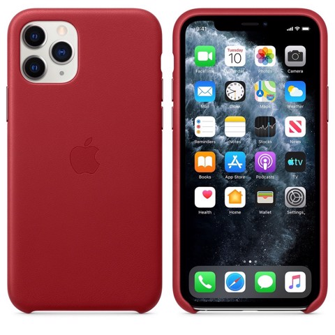 Ốp Leather Chính Hãng Apple Red cho IPhone 11 Pro Max
