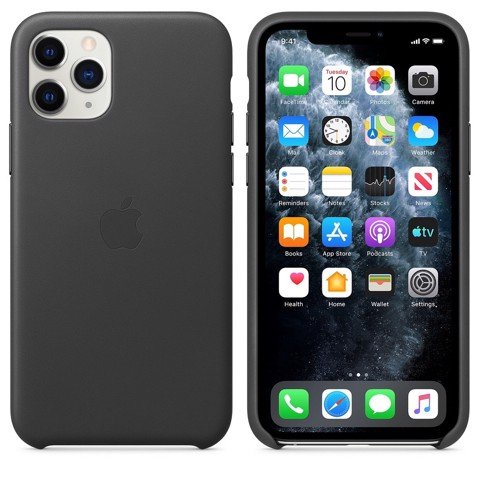 Ốp Leather Chính Hãng Apple Black cho IPhone 11 Pro