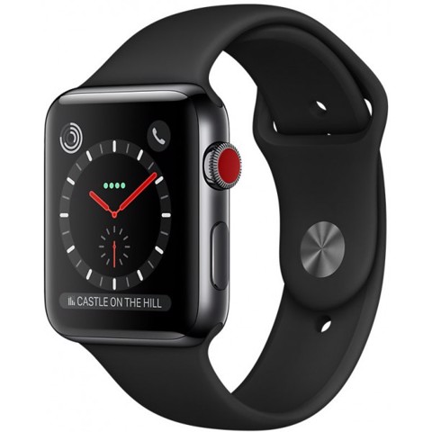 Apple Watch Series 3 42mm Xách Tay Mỹ MR2X2 (E-sim)-Black Sport Band( Gray)