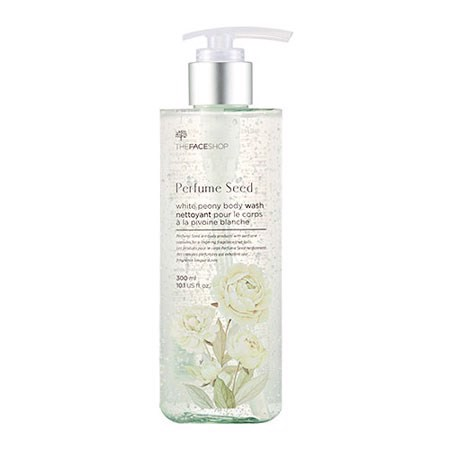 Gel tắm The Face Shop Perfume Seed White Peony-Showel Gel- 300ml (Xanh)