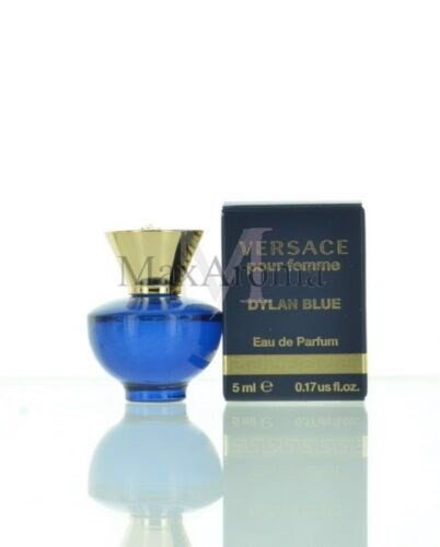 Versace Dylan Blue Perfume For Women Eau De Parfum Mini Splash 5 Ml 0.17 Oz