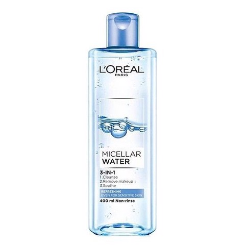 Nước Tẩy Trang  L'Oreal 400ml Micellar Water 3-in-1 Refreshing Even For Sensitive Skin