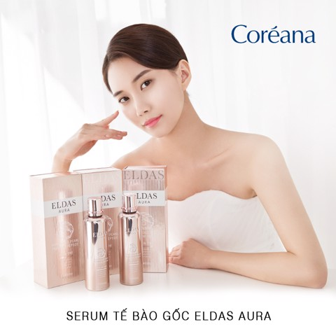 Serum Tế Bào Gốc Eldas Aura Shine Gold Pearl Premium Peptide All-In-One 100ml