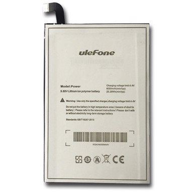 7. Pin Ulefone Power 1