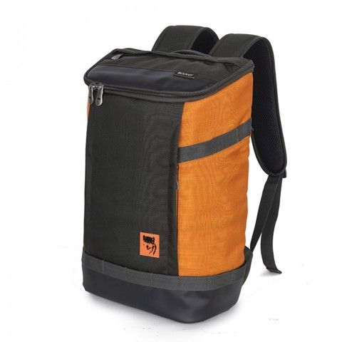 Balo laptop Mikkor The Irvin Backpack Charcoal/Orange