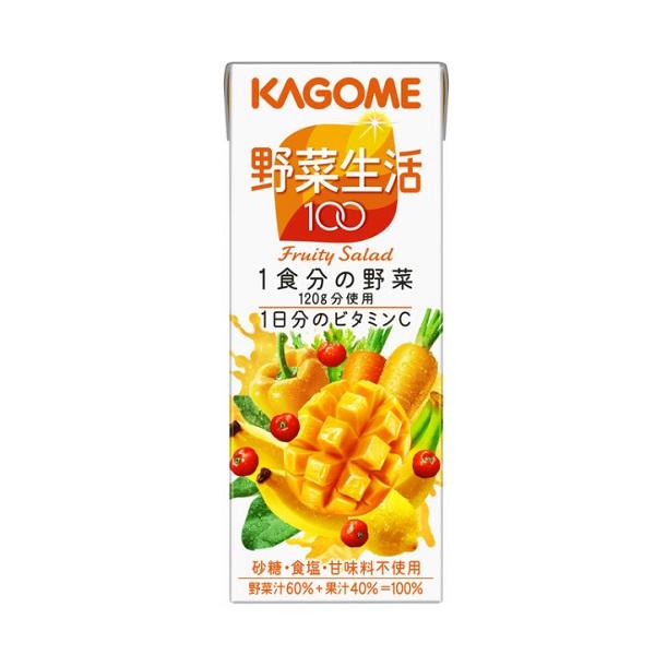 Nước Ép Rau Củ Quả Fruity Salad Kagome - Hộp 200ml