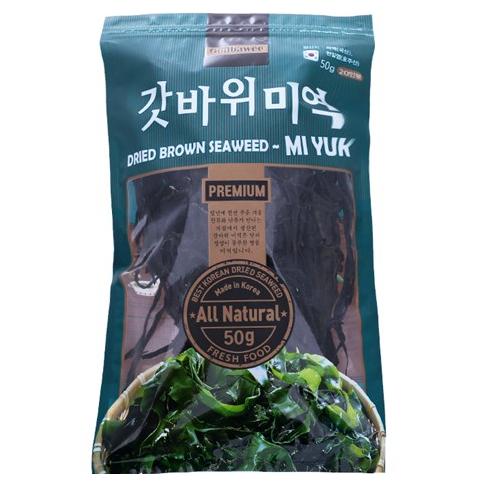 Tảo Nguyên Cành Miyuk 50g | Miyuk Dried Brown Seaweed 50g