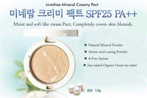 MINERAL CREAMY PACT SPF 25/PA++(INNIFREE)