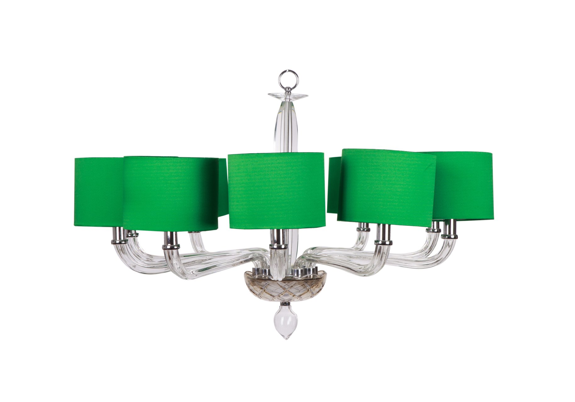 marius chandelier deco art ernest sabino green by for