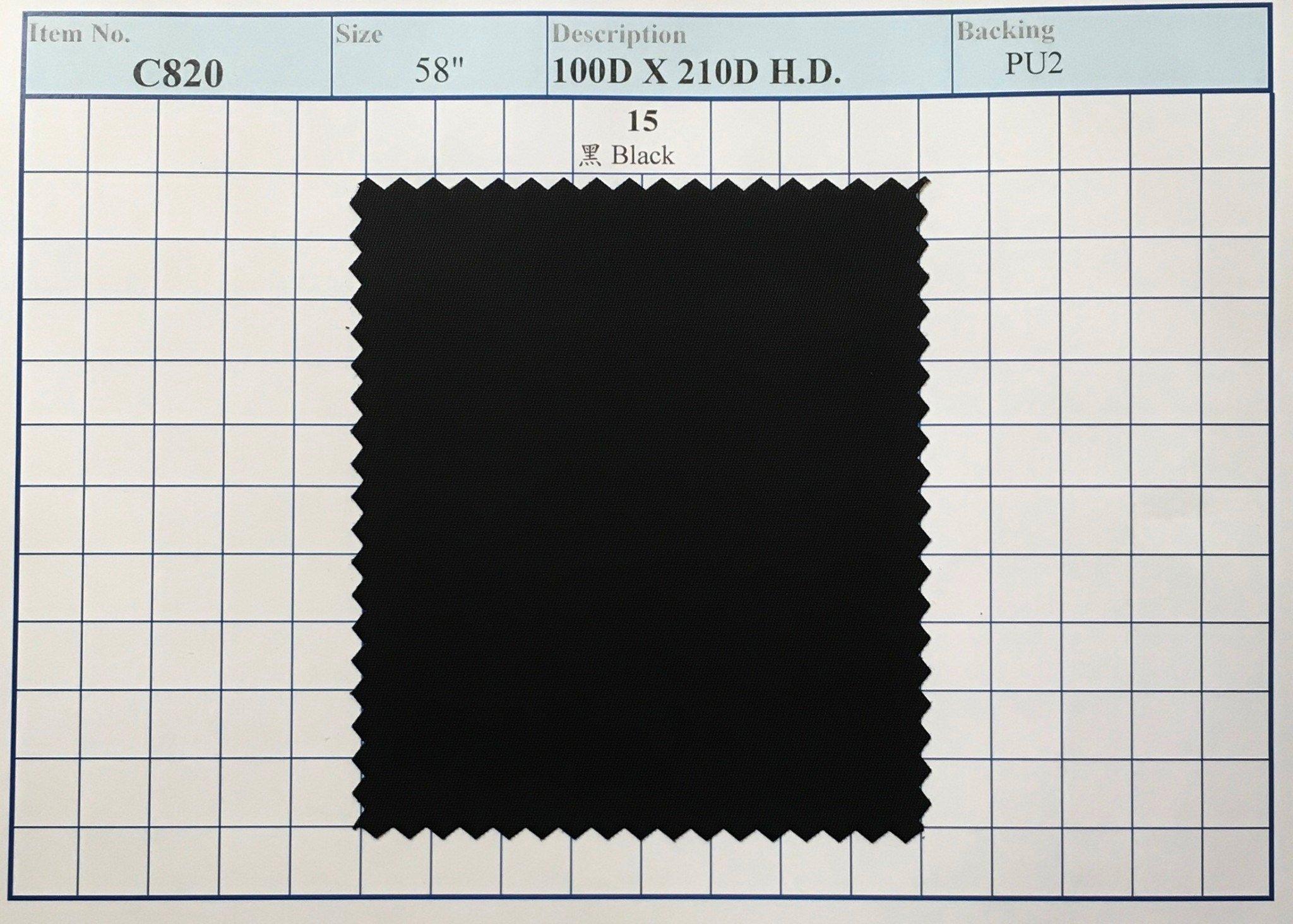 item c820 100d x 210d hd backing pu2