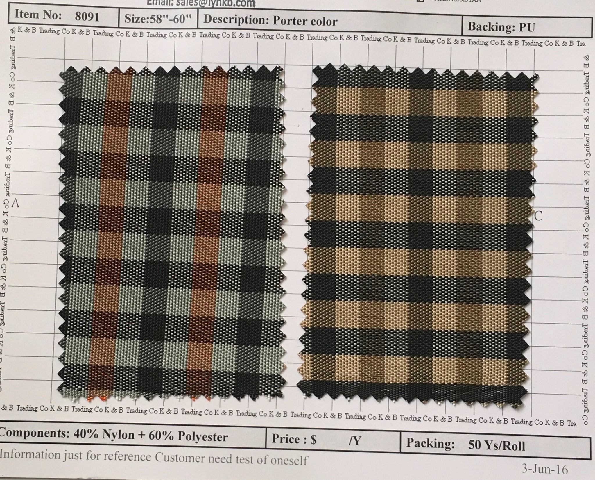 item 8091 porter color backing pu