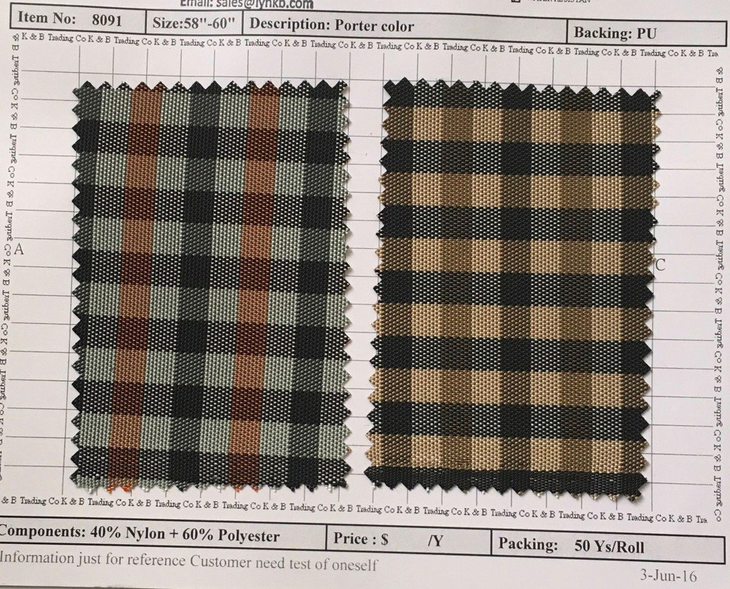 Item 8091: Porter Color Backing PU