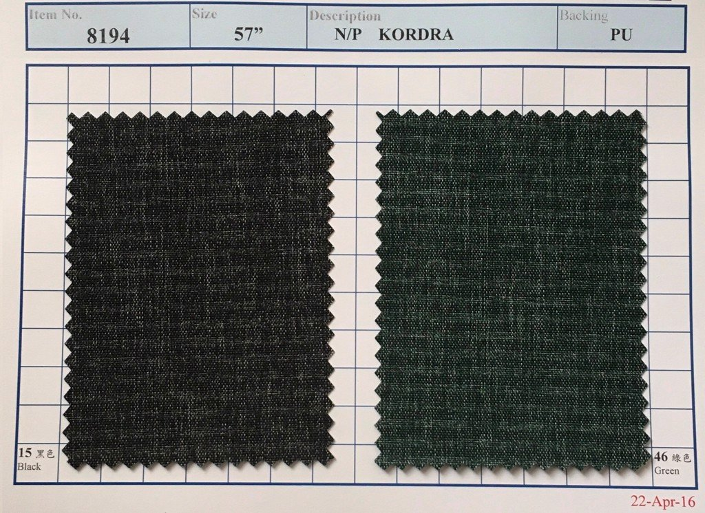 Item 8194: N/P Kordra Backing PU