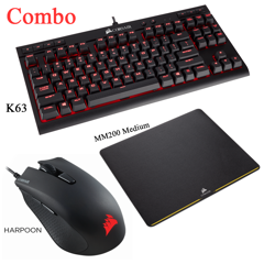Combo Corsair K63 + Harpoon + MM200 Medium