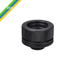 "Fit Nối Ống TT Premium Pacific G1/4 PETG Tube 5/8"" OD Compression – Black"