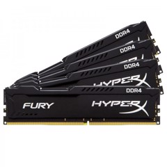 Ram Hyperx Fury 4x16GB 64GB Bus 2133 Black