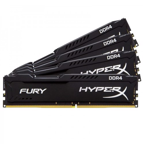 Ram Hyperx Fury 4x8GB 32GB Bus 2666 Black