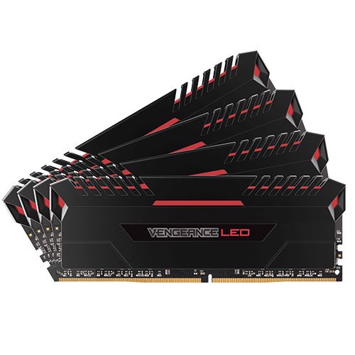 Ram Corsair Vengeance Led Red 4 x 16GB 64G bus 3000 C15