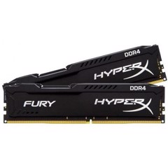 Ram Hyperx Fury 2x4 8GB Bus 2400 Black