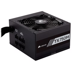 Nguồn Corsair TX750M - 80 Plus Gold - Semi Modul