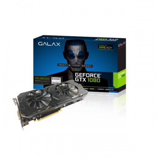 VGA Galax GTX 1080 Black EXOC 8GB 2 Fan