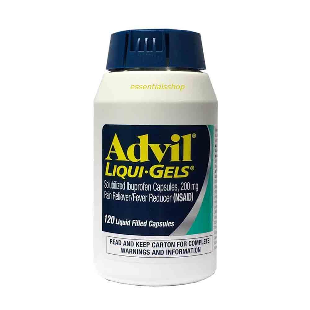 Viên uống giảm đau Advil Liqui Gels 200mg hộp 120 viên