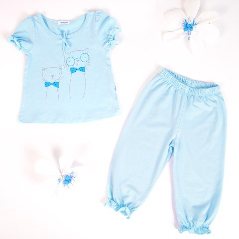 Set Cotton Tee and Long Pants