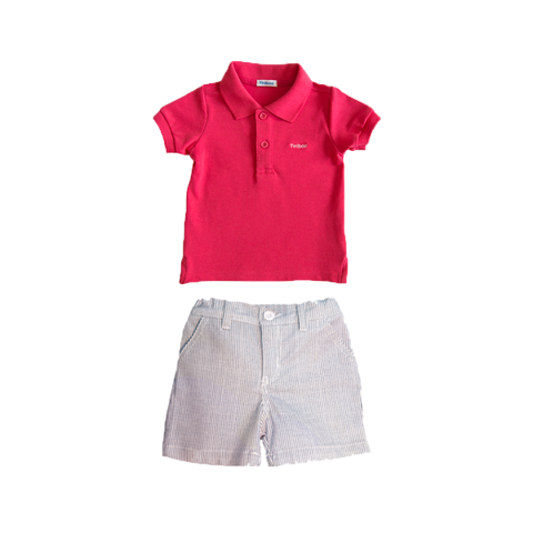 Set Premium Polo with Cotton Shorts