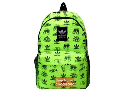 Adidas Neon Shoes Backpack