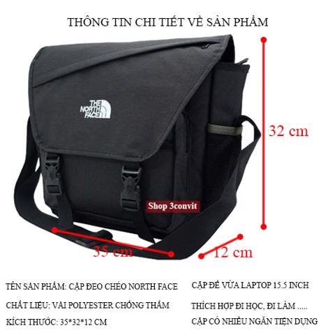 Cặp đeo chéo North Face laptop 15.5 inch