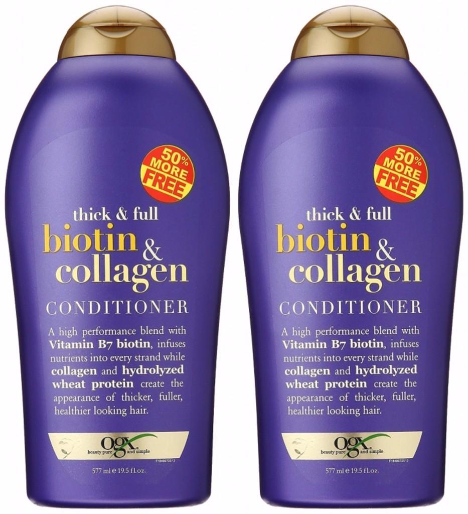Kết quả hình ảnh cho Dầu xả OGX Thick and Full Biotin and Collagen Shampoo chai 750ml từ Mỹ