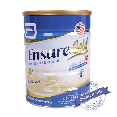 Sữa Ensure Gold Hộp thiếc to 850g