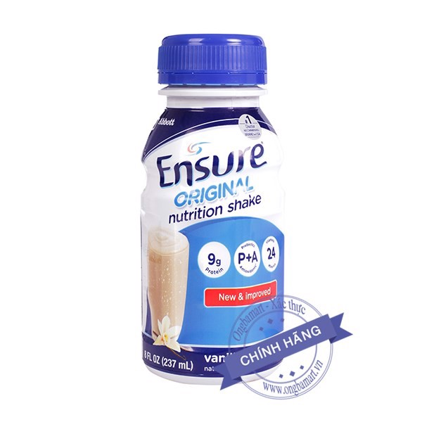 Sữa Ensure Original Nutrition Shake dạng chai 237ml