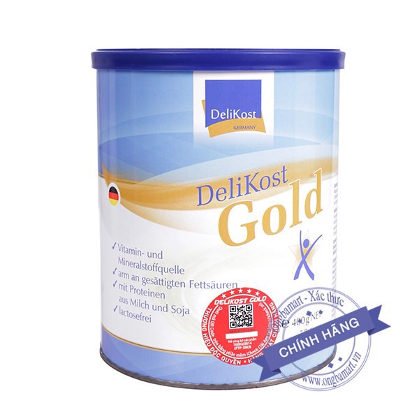 Sữa Delikost Gold Hộp thiếc 400g