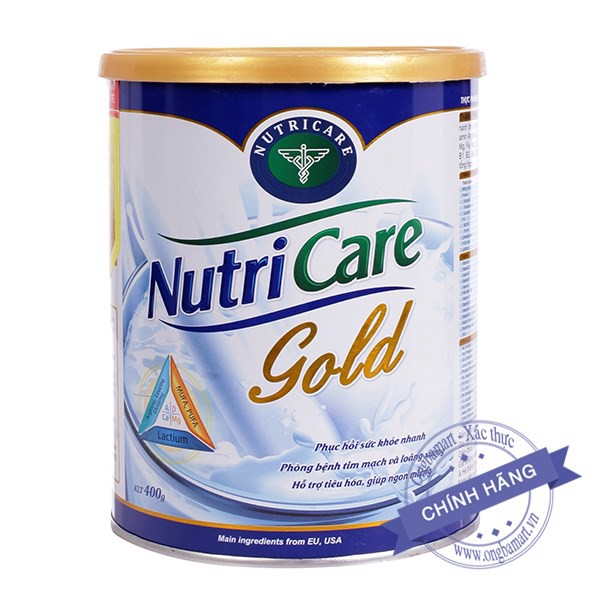 Sữa Nutricare Gold Hộp thiếc 400g
