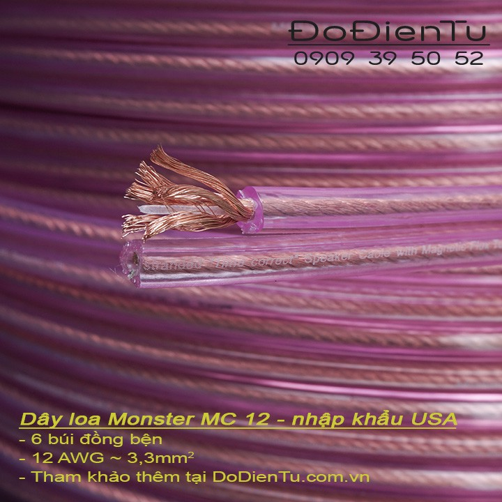 Dây loa Monster OMC Original Monster Cable 12 Gauge