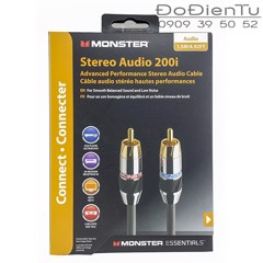 Monster 200i RCA Stereo Audio RCA Cables 1.5M