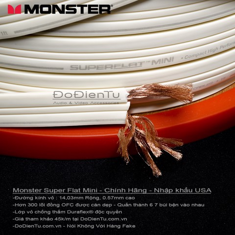 Dây loa Monster SuperFlat Mini Navajo White