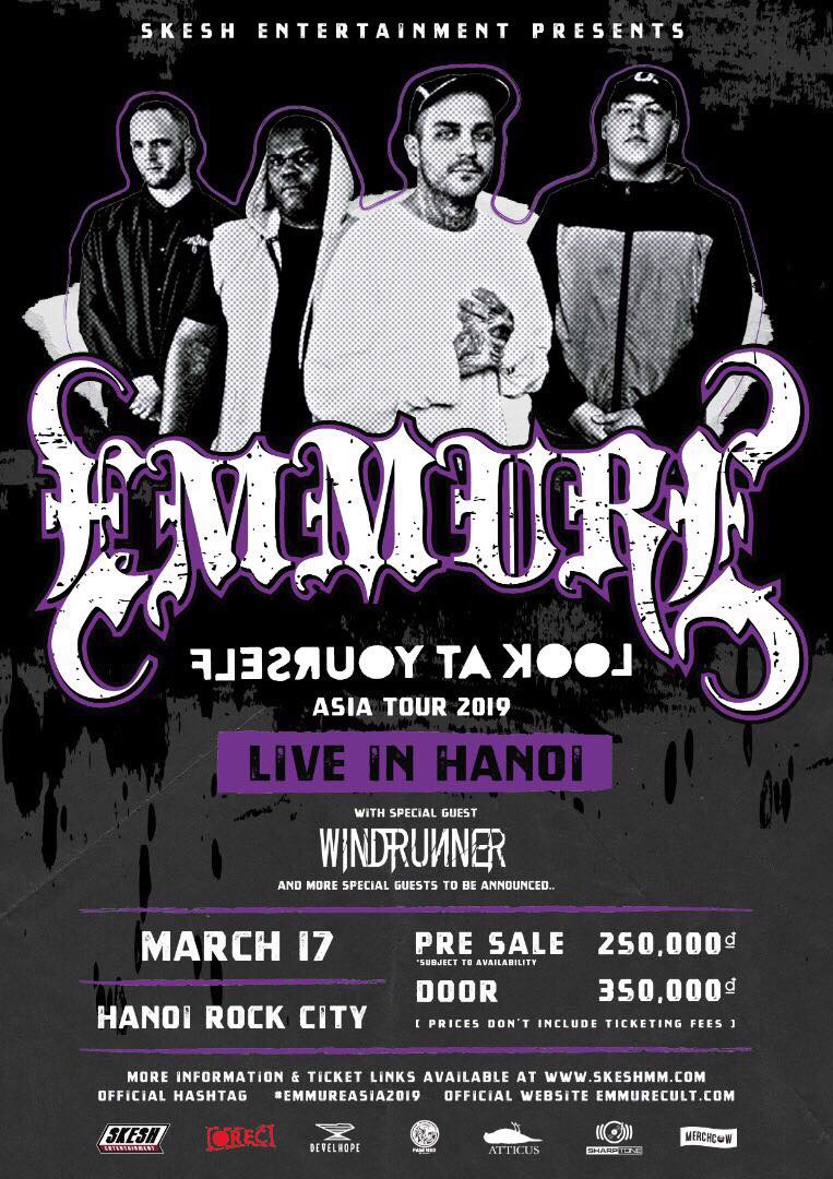 Emmure Live in Hanoi (EARLY BIRD)