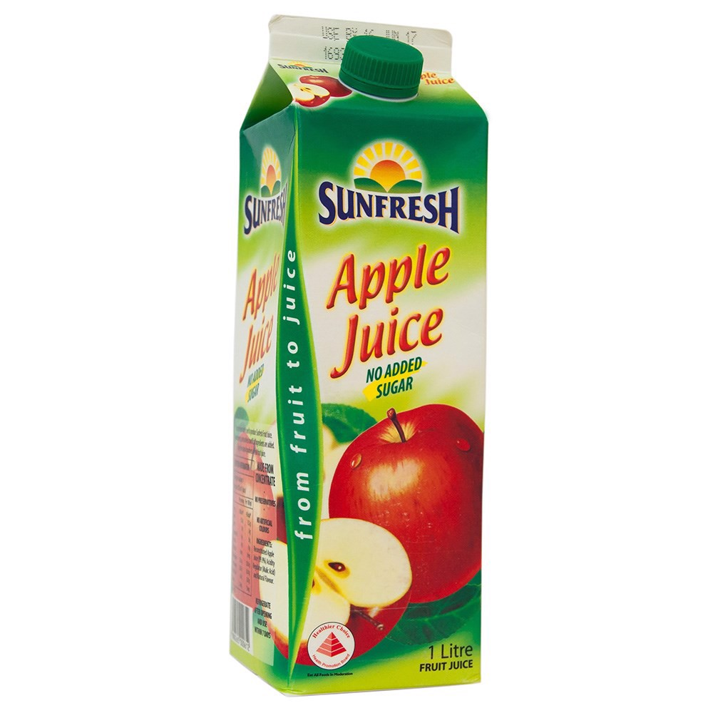 Sunfresh apple juice 1L