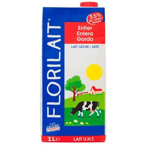 Florilait full cream milk (3,5% fat) 1L