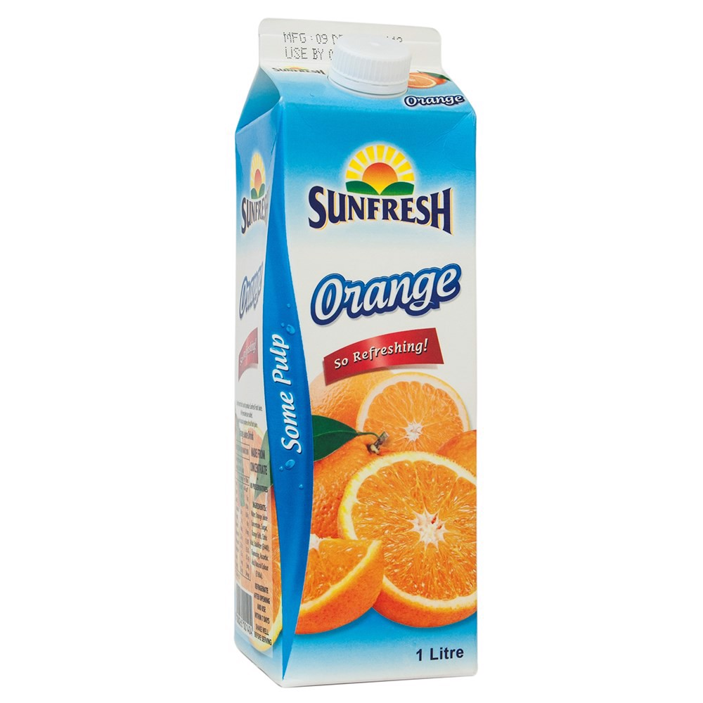 Sunfresh orange juice (sweetened) 1L