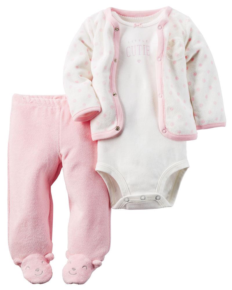 Quần áo trẻ em, bodysuit, Carter, đầm bé gái cao cấp, quần áo trẻ em nhập khẩu, Bộ set kèm áo khoác nhập Mỹ