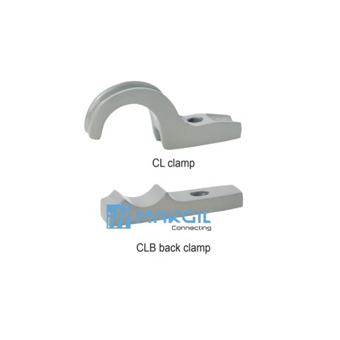 Kẹp đỡ ống chống ăn mòn (Clamp and Back clamp), CL and CLB