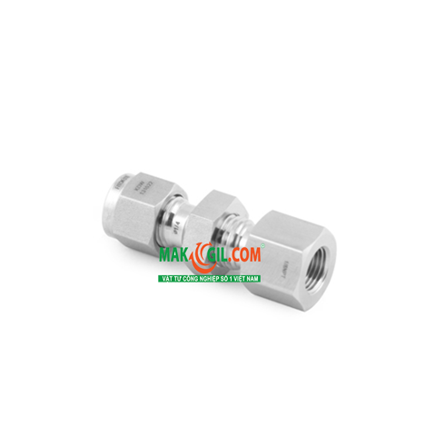 Bulkhead Female Connector FITOK SS-BCF-FL10-NS6 , 5/8