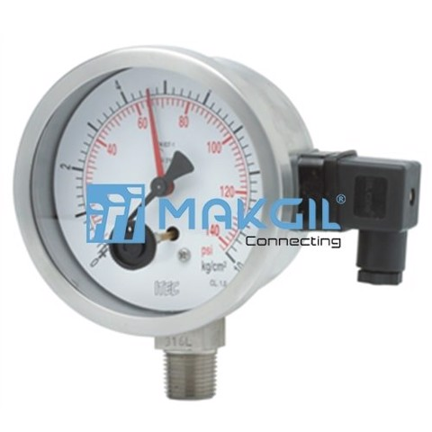 Đồng hồ áp suất loại microswitch ITEC/Italy P504 - Microswitch pressure gauge