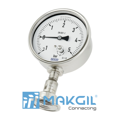 Pressure gauge in hygienic design with mounted diaphragm seal Model DSS22P