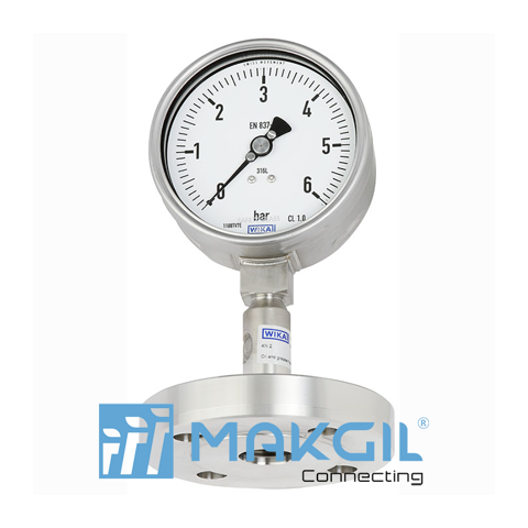 Pressure gauge per EN 837-1 with mounted diaphragm seal Model DSS26M