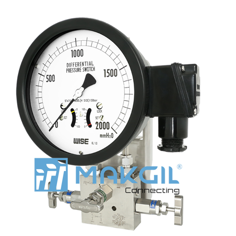 Đồng hồ đo chênh áp ITEC P640 (Indicating type differential pressure switch with bellows element_P640 series)